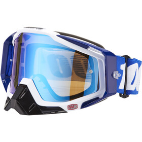 100% Racecraft Anti Fog Mirror goggles, cobalt blue